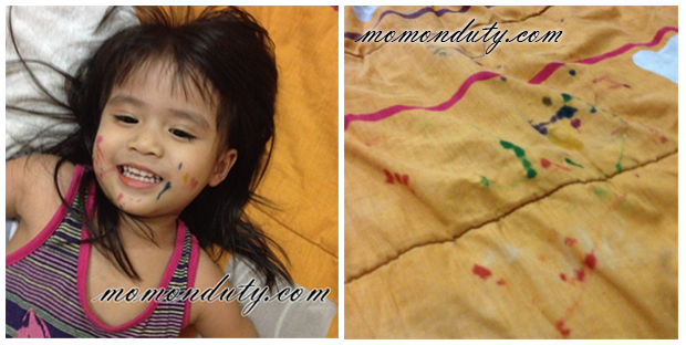 A Painted Face and Rainbow-fied Sheets