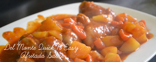 Saucy Chicken Afritada with Del Monte Quick N Easy Afritada Sauce