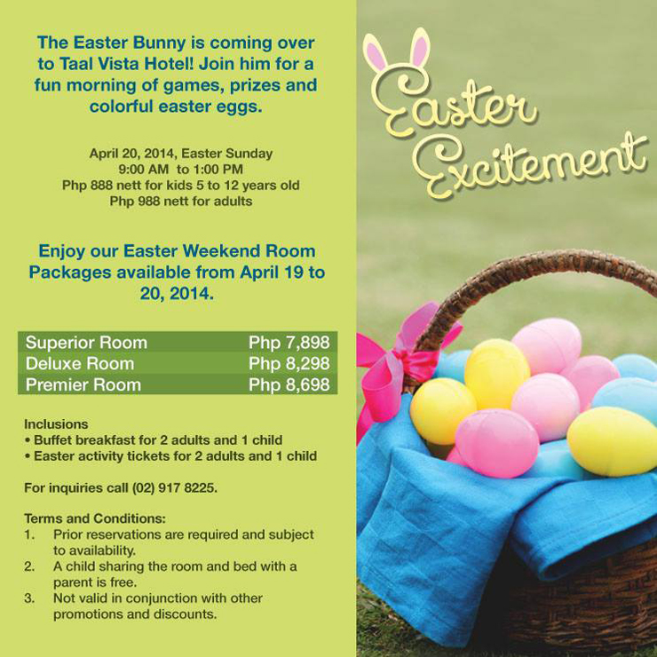 Taal Vista Easter Excitement