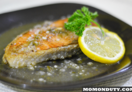 Grilled Salmon in Lemon Butter Sauce