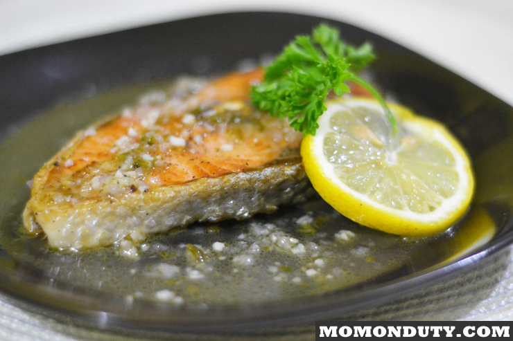 Pan Grilled Salmon in Lemon Butter Sauce