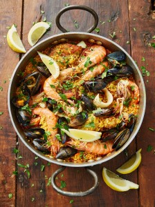 Seafood Paella for Christmas Dinner