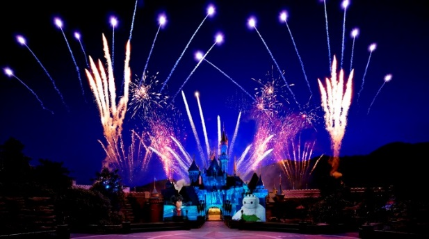 The fireworks display at Hong Kong Disneyland will be grander, bigger, more colorful.