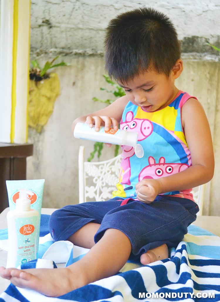 The Little Man loves Belo Baby | www.momonduty.com