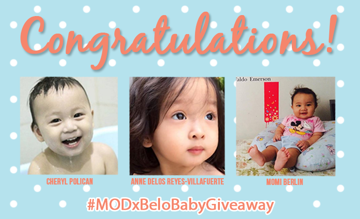 Belo Baby x Mom On Duty Giveaway Winners