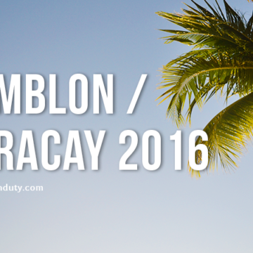 Romblon and Boracay 2016