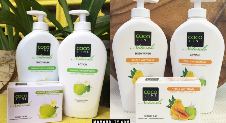 COCOLINE Naturals is a Philippines-made skin care line that utilizes the power of Virgin Coconut Oil for moisturizing and whitening effect on the skin. / www.momonduty.com