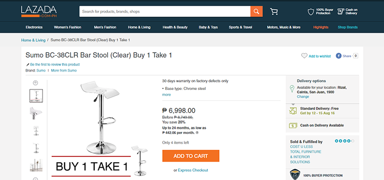 Lazada Delivers a Damaged Item – And they KNEW it was damaged