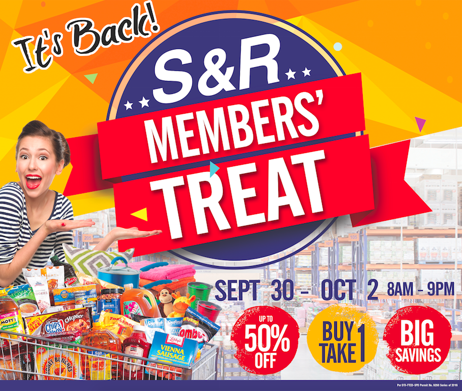 S&R Members' Treat is back!!!
