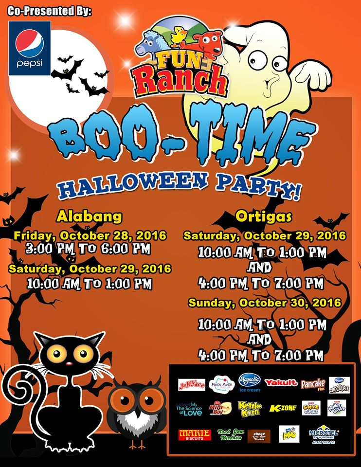 Fun Ranch BOO! Time is a yearly Halloween event for kids and parents. The event is free, but pre-registration is required.
