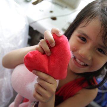Kids will learn to stuff and sew their own plush toy at Kids Camp at The Farm