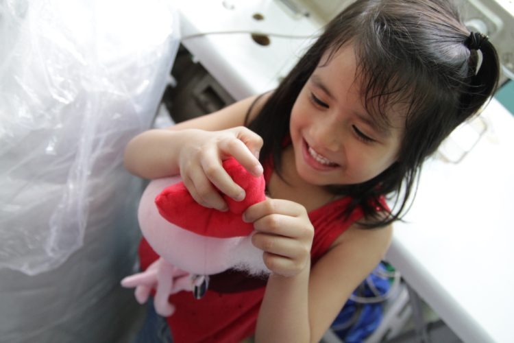 Plush & Play supports the community by hiring mothers in the production line.