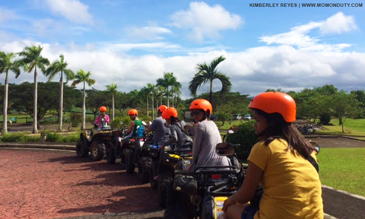 Go on an adventure trip around the 300-hectare property on Mountain Lake Resort's ATV. | www.momonduty.com