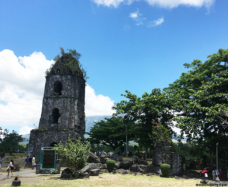 The Cagsawa Ruins tell us the story behind the beautiful and deadly Mayon Volcano in Bicol. www.momonduty.com