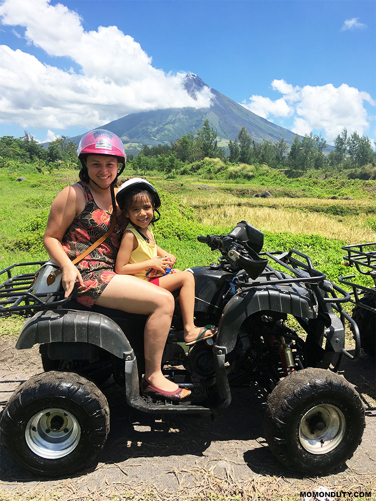The ATV ride in Cagsawa is a must try! www.momonduty.com