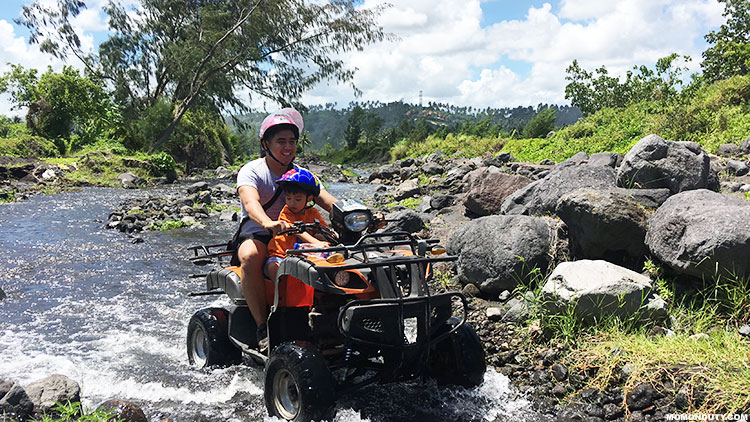 Don't forget to put on sun block and bring hot water when you try the Cagsawa ATV adventure! www.momonduty.com