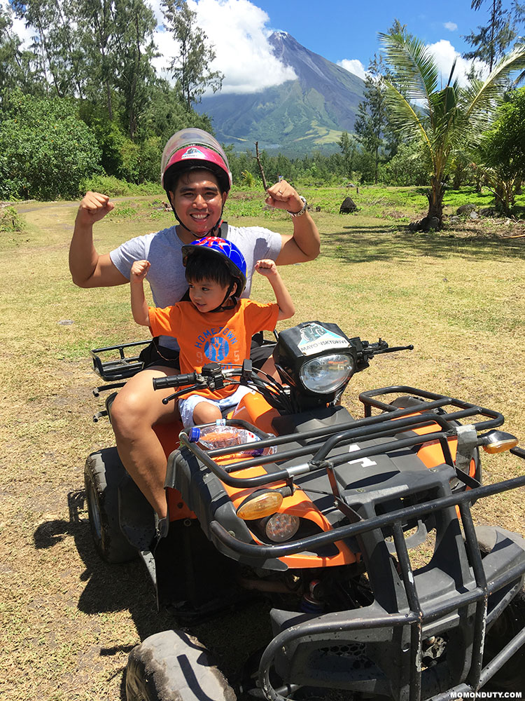 The ATV ride in Cagsawa is a must try not just for adults, but also for kids! This is your chance to teach your little ones a quick lesson on volcanoes. www.momonduty.com