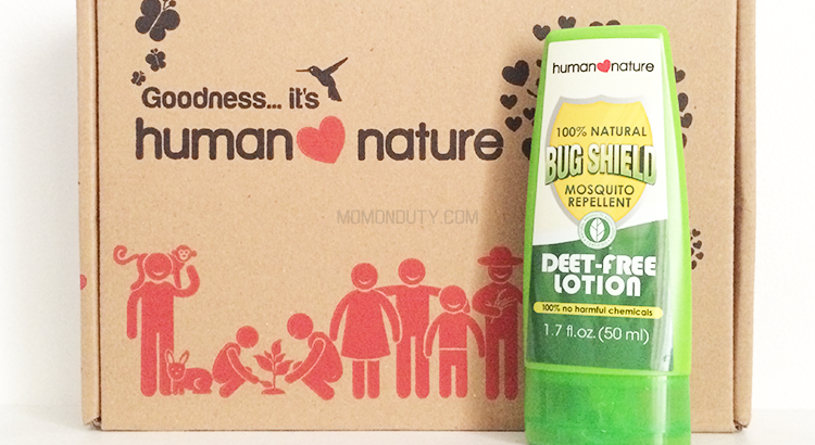 The Human Nature Bug Shield Lotion packs a powerful punch against pesky mosquitoes. | www.momonduty.com
