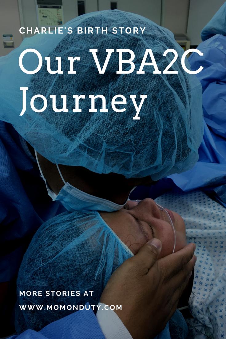 Charlie: A Healing VBA2C Birth Story | www.momonduty.com