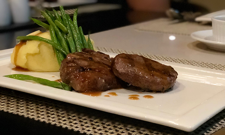 Fillet Mignon at Oscar's Eugenio Lopez Center