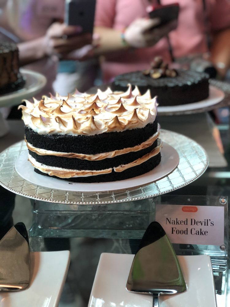 Naked Devil's Food Cake