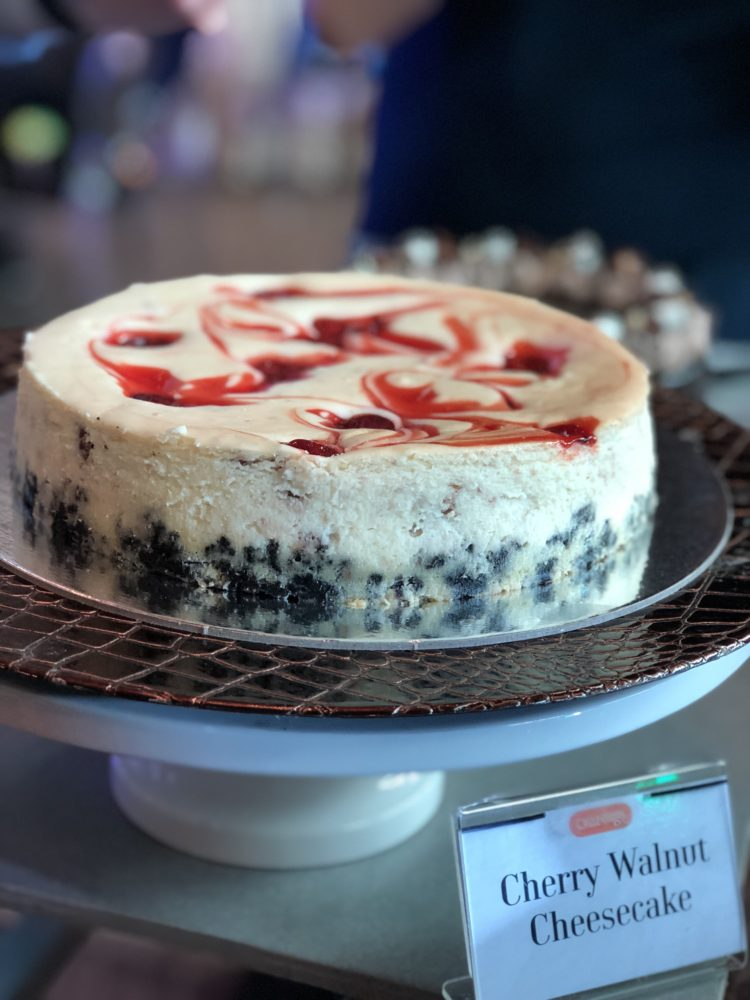 Cherry Walnut Cheesecake