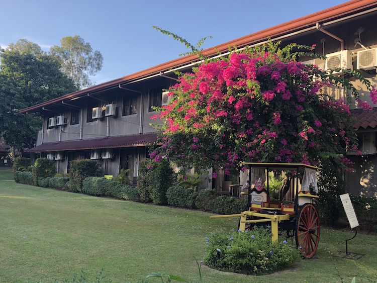 Montebello Villa Hotel boasts of its lush gardens.