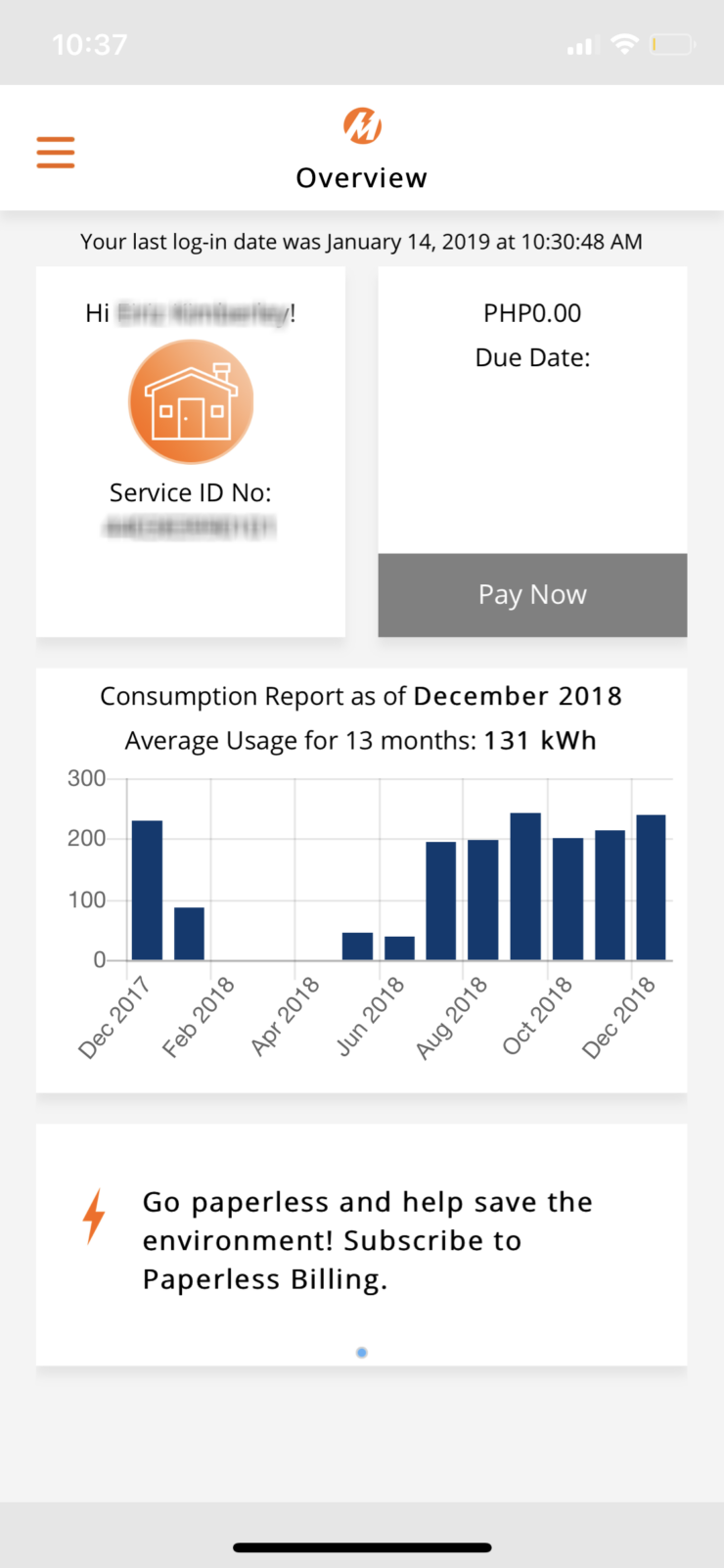 Pay your electricity bill through Meralco Mobile