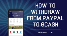How to withdraw from PayPal to GCash | www.momonduty.com