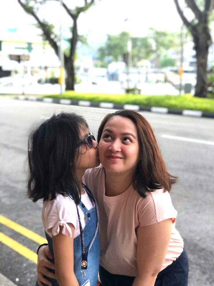 Mommy and daughter in Singapore