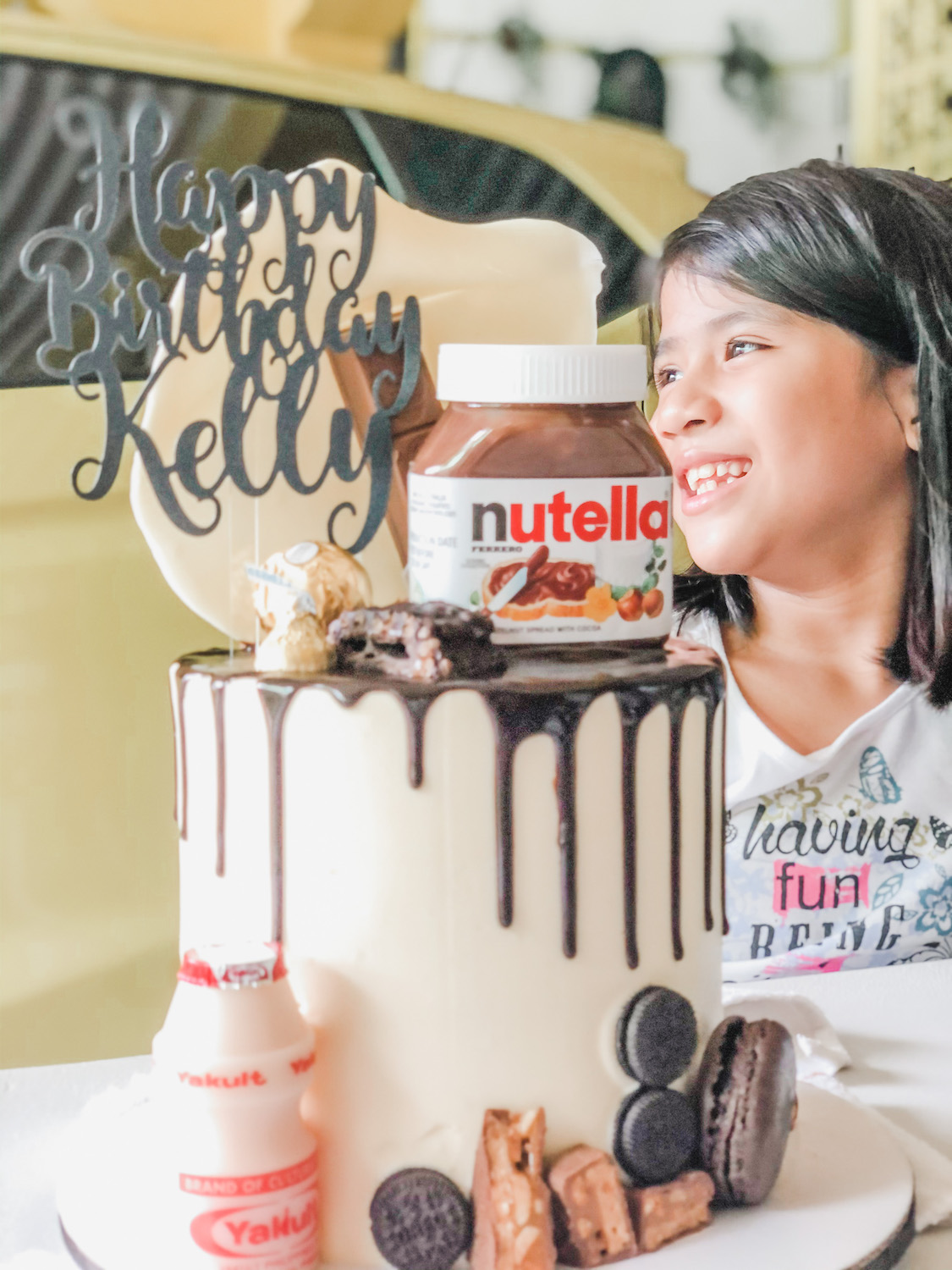 Kelly's 9th Birthday: Lasagna, Milk Tea, and Nutella Cake